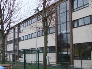 Rückansicht Hauptgebäude