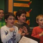 Während der Aufführung im Klassenzimmer