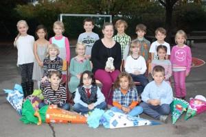 Klasse 1a mit Klassenlehrerin Sandra Welter