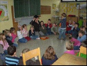 Teilnahme der Vorschulkinder an einer Unterrichtsstunde