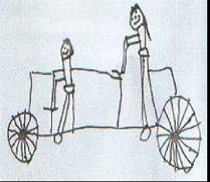 Tandem - gezeichnet von Jule