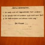 Die 1a brachte als erste Klasse das unterzeichnete Schulversprechen zurück