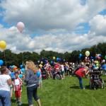 Bute Luftballons zum Abschied in Heiligkreuz
