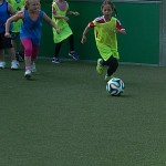 Zur Vorbereitung auf die Frauenfußball-WM: Jede Menge Mädchenpower auf dem Kleinspielfeld