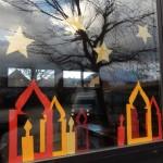 Fensterdekoration der 3b/d