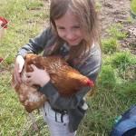 Kinder der 1c im Hühnerglück