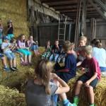Ein Höhepunkt: Der Besuch auf dem Osterbornhof